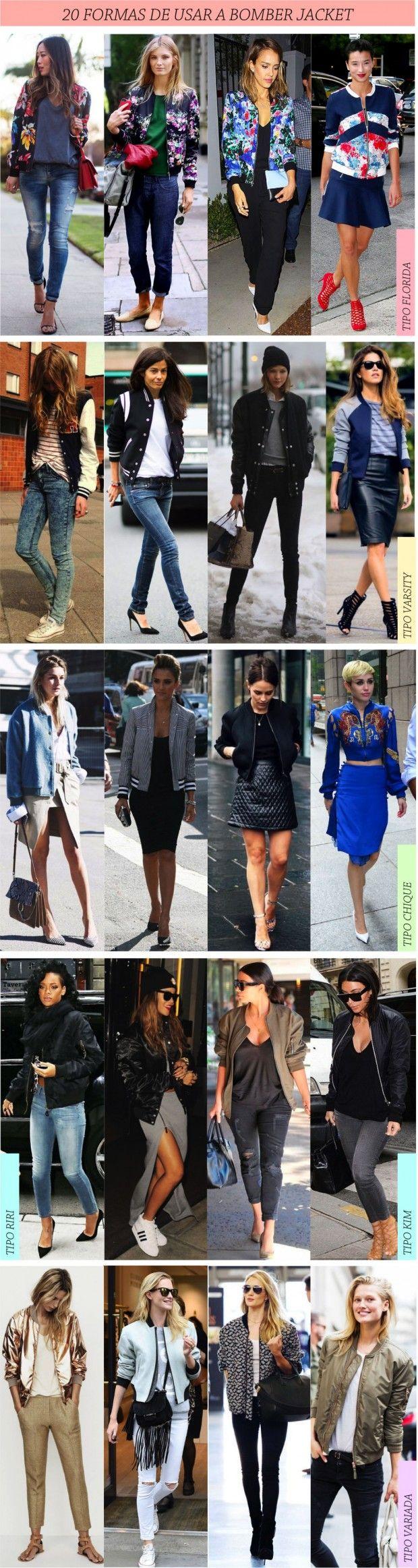 27 FORMAS DE USAR JAQUETA TIPO BOMBER - Fashionismo