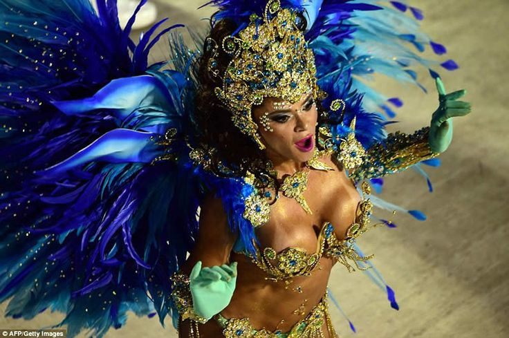 Uniao da Ilha samba school led the way with their colourful performance on the second day of the most important carnival parades