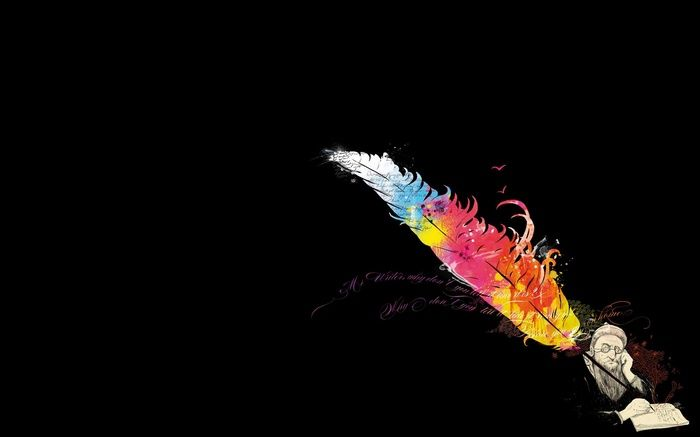 Black Background Books Quote Minimalism Writers Feathers Wallpaper Feather Illustration Lion Artwork Wallpaper