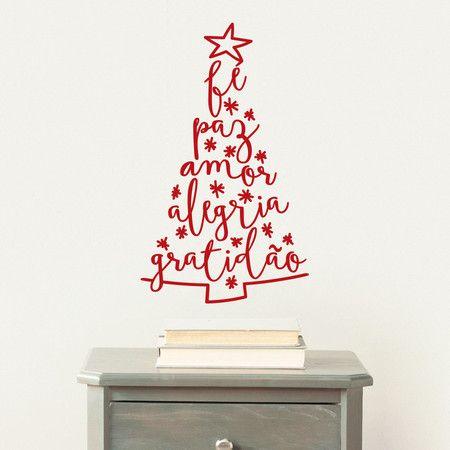 Adesivo de parede - Árvore de Natal - Pequenas Causas - Adesivos de Parede