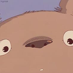 Here's a Totoro smile to brighten up your day!   Totoro   Miyazaki   Studio Ghibli