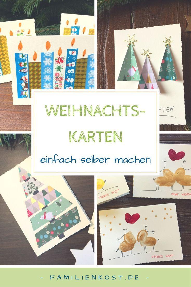 Weihnachtskarten basteln | Geschenkideen | Christmas, Christmas ...