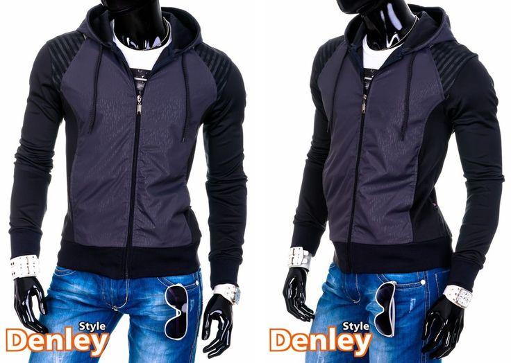 ABAQUZ M474 - GRAFIT | On  Bluzy męskie  Bluzy z kapturem | Denley - Odzieżowy Sklep internetowy | Odzież | Ubrania | Płaszcze | Kurtki
