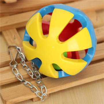 3 Types Bird Parrot Chew Ball Hang Cage Climbing Toy Swing Ball Budgie at Banggood