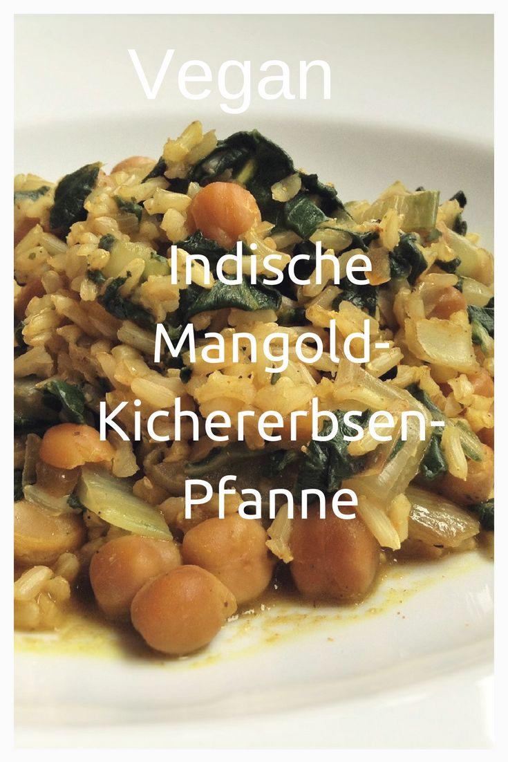 Indische Mangold-Kichererbsen-Pfanne vegan