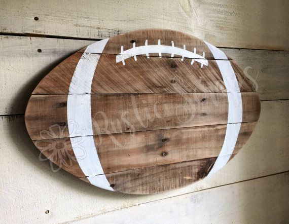 Football Sign Wood Football Rustic Football Fall by RusticScraps