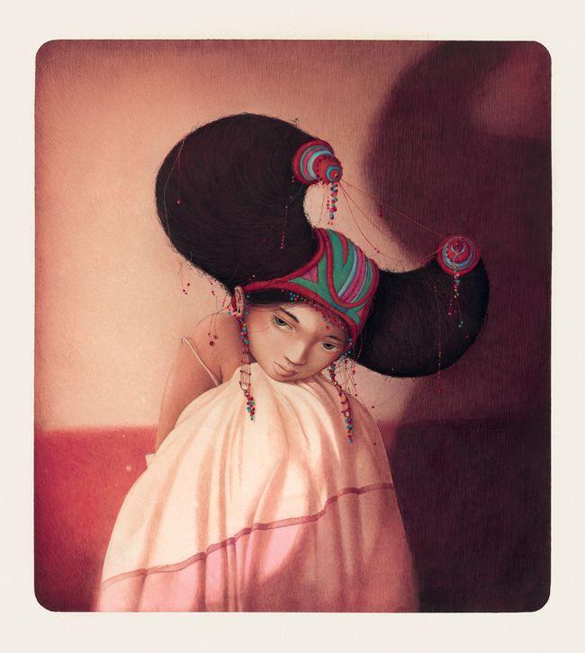 Rébecca Dautremer - Femme de Tobie | Oeuvres | Galerie Robillard