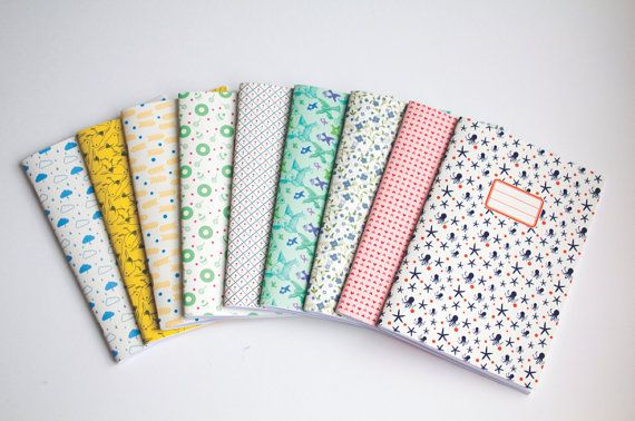 3 Custom Notebooks  Choose your Cahier Cover  by vertceriseshop, €18.00