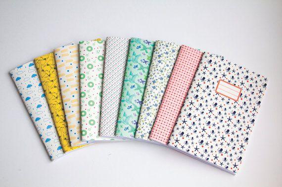 Notebook++Set+of+3+blank+notebooks++Choose+your+by+vertceriseshop,+€18.00
