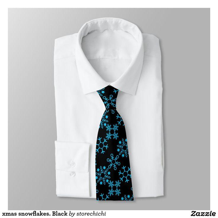 xmas snowflakes. Black Tie