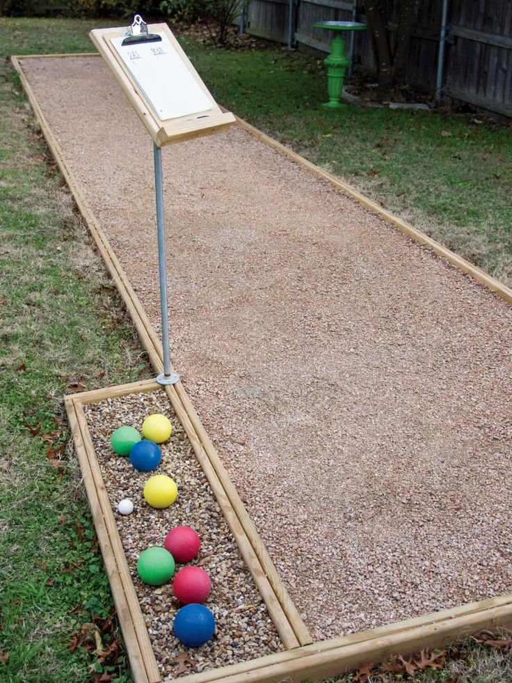 Build An Outdoor Bocce Court Homemade Side Yards And Sun