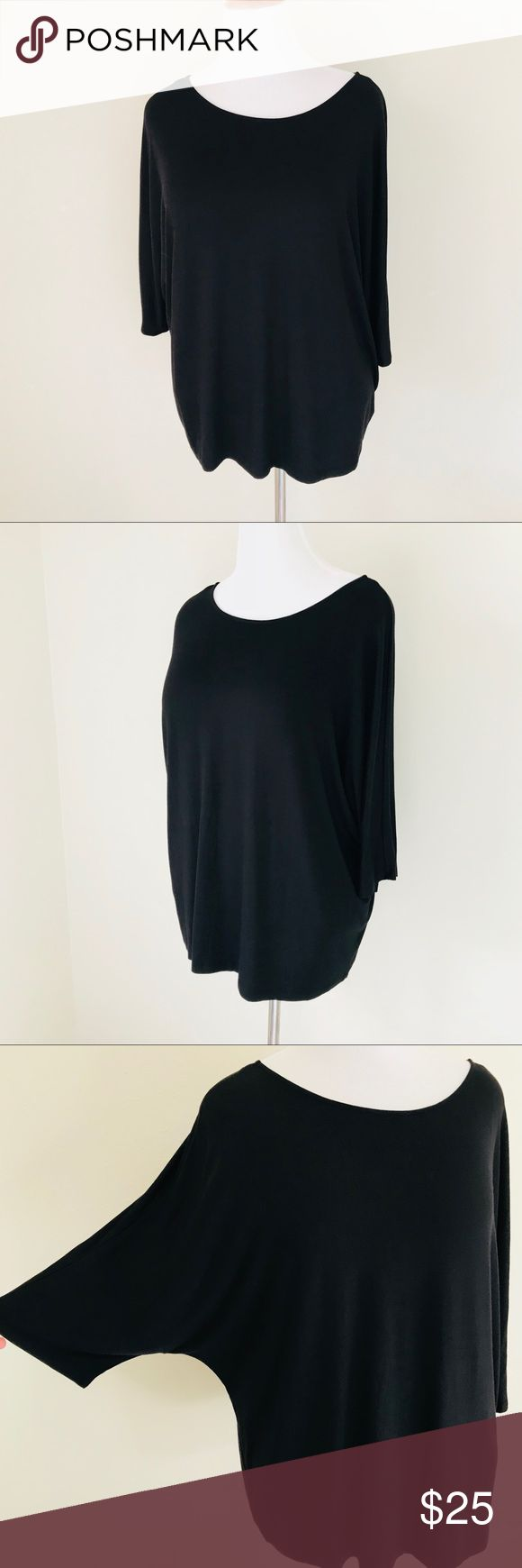 "Worthington Black batwing Top Worthington Black 3/4 batwing sleeve top New with Tag!  Length 27"" Size XL Worthington Tops"