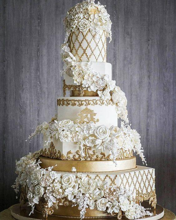 50 Ideen für goldene Hochzeitstorten 25   – wedding cakes