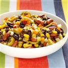 Corn and bean salad-- I love to use this either as a stand-alone lunch OR as an addition to a taco salad!