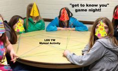 YW Get to know you Game Night - lds yw Mutual young women from the Jolly Rogers Young Women Blog