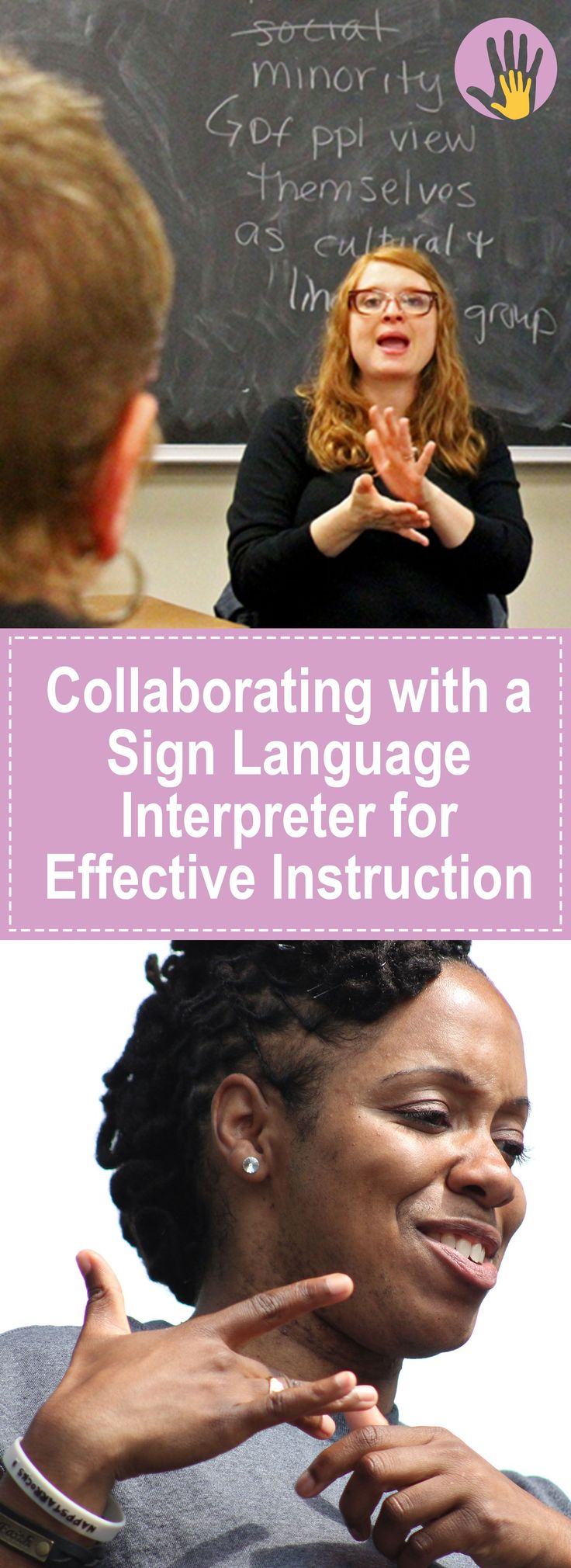 Collaborating with a Sign Language Interpreter for Effective Instruction