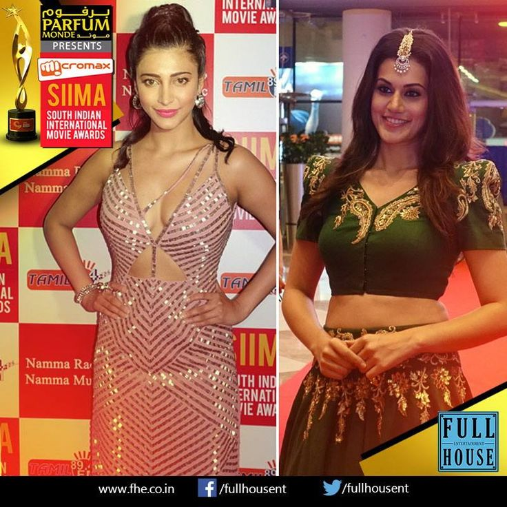 Gorgeous actresses Shruti Hassan & Taapsee Pannu...from SIIMA 2015 Venue.  #SIIMA2015 #Entertainment #Fun #World #Performance #Ushauthup #Award #Dubai #Fullhouseentertainment #Music #Filmstar #Films #History #Chennai #Celebration #Event #Sheikhrashidhall
