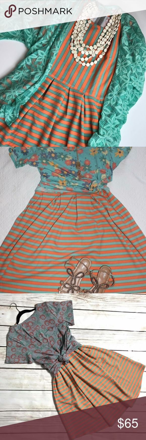 NWT Striped Lularoe Amelia Dress. Beautiful striped amelia dress. LuLaRoe Dresses