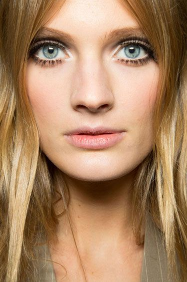 Spring 2013 Makeup Trends - Best Makeup Trends for Spring 2013 - Harper's BAZAAR the only annoying thing is her left eyelash strip is coming off in the inner corner