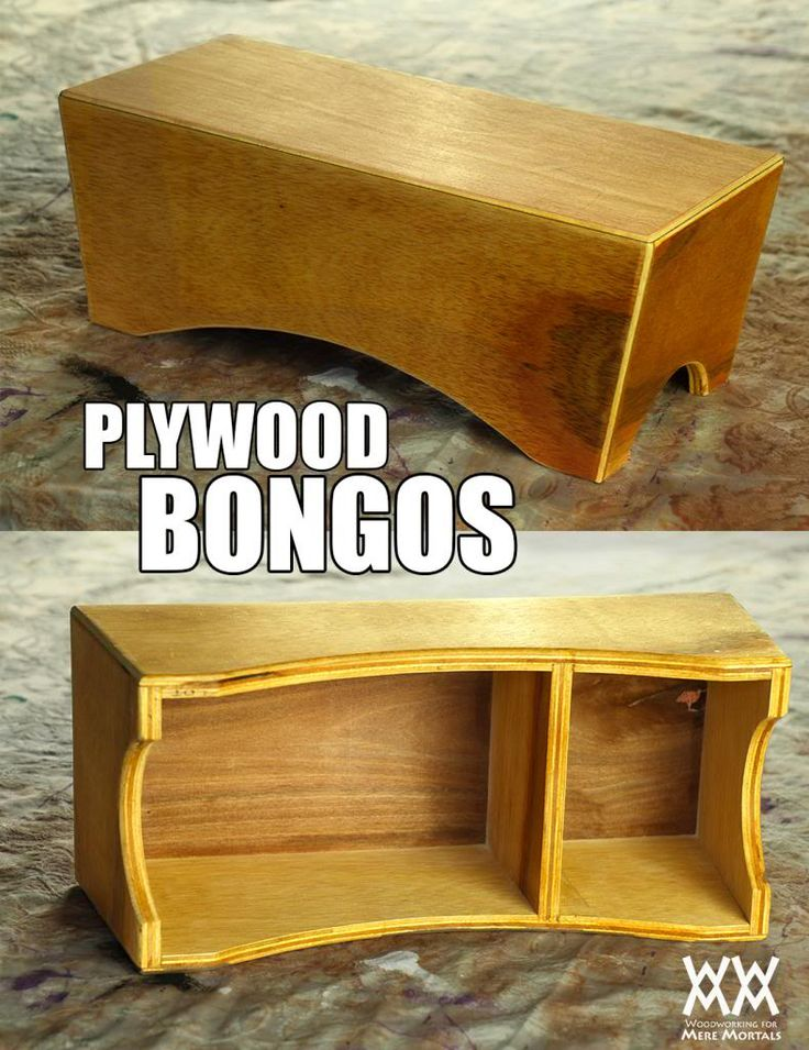 Woodworking for Mere Mortals: Free woodworking videos and plans. : Easy-to-make plywood bongo drums