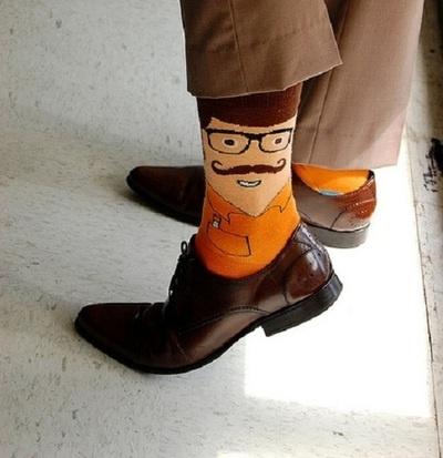 ese calcetín bigotudo! #socks