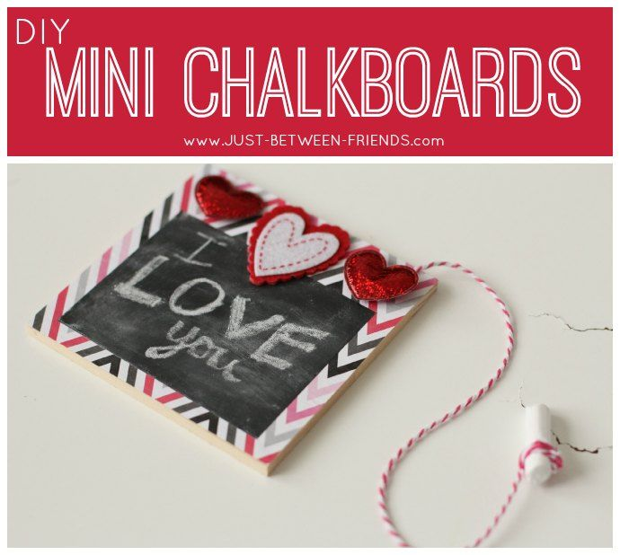 Just Between Friends: Mini Chalkboards | Valentines Day Craft