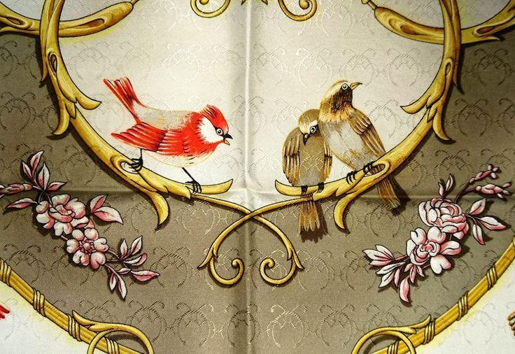 Vintage Beautiful HERMES LA CLE des CHAMPS scarf FRANCE 100% SILK foulard carre  #Hermes #Scarf