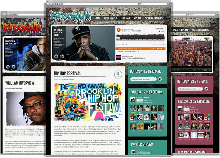 theme designed for en musicians, bands, artist, bloggers and the entertainment industry.