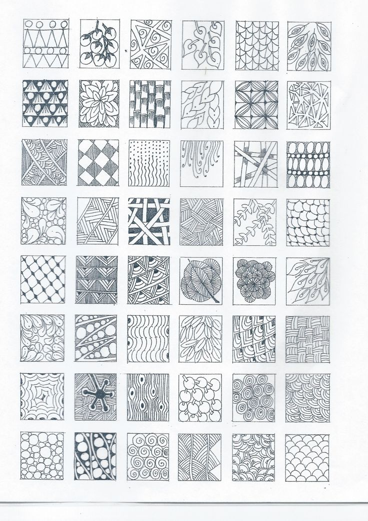 Zentangle designs start practicing each design tangle on for Drawing patterns for beginners