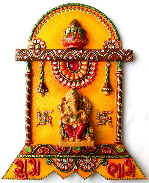 69 best ganesha wall hanging images on pinterest diwali for Mural art of ganesha