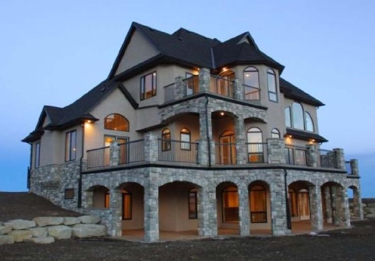 Love the Stone and the Balconies. woah this is crazy beautiful. - I want a mini version of this one!!