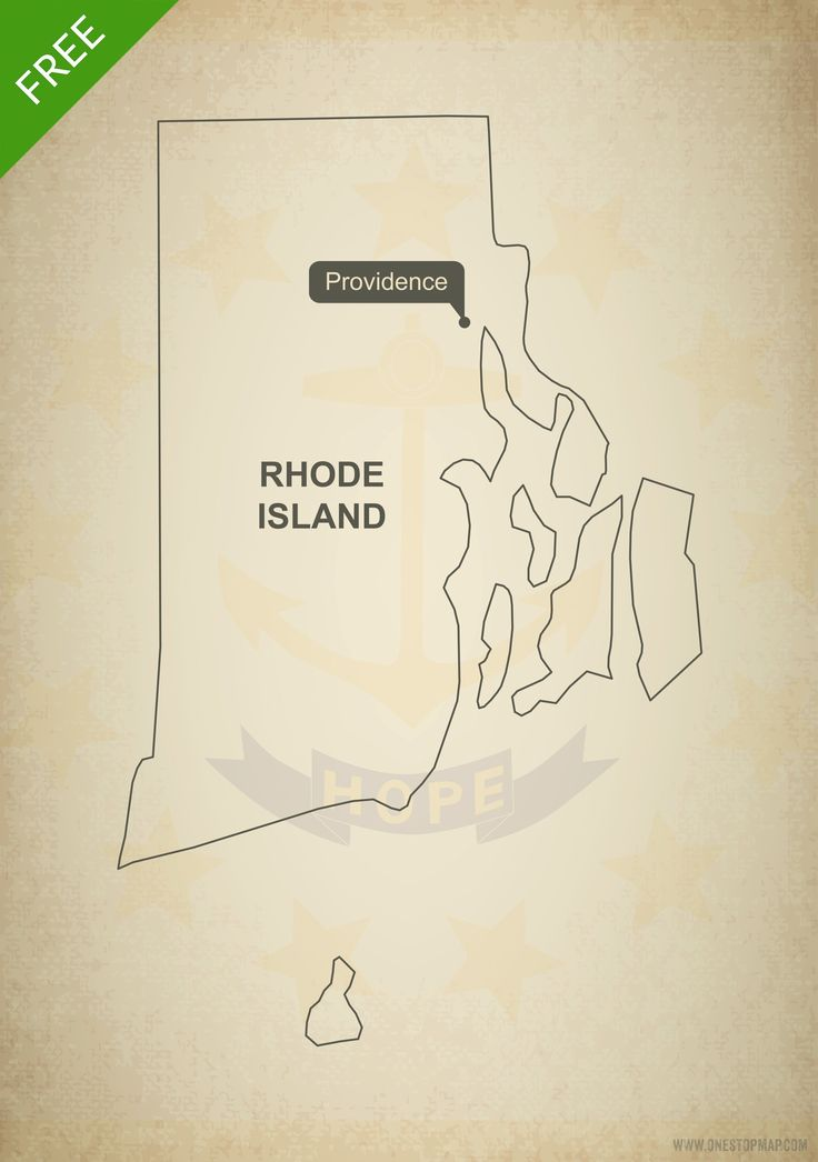 free vector map of rhode island outline