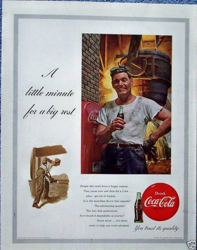 Coca Cola Coke Factory Steel Worker Big Rest (1953)