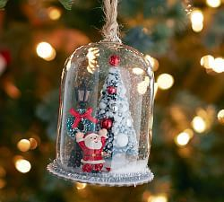 This is a Pottery Barn item....but wouldn't it be easy to duplicate with old baby food jars, (as ornaments) or canning jars (for tabletop)...?!  Cool!