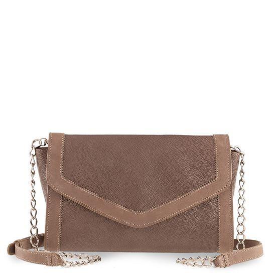 Calf skin, inside zipper pocket, magnet closure, shoulder strap inside leather bags AURA VIT STAMP TAUPE, leather bags, purses, bags,