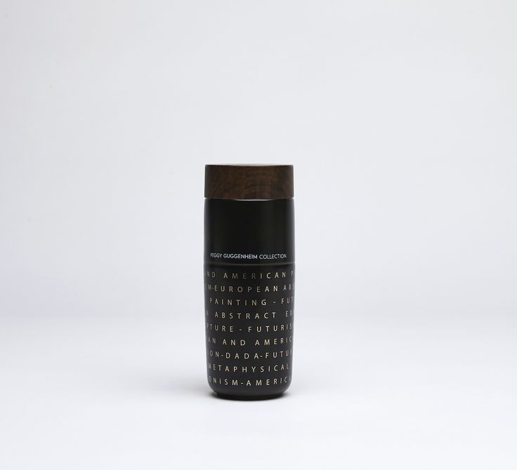 Black Version of the #TravelMug Special Edition  dedicated to the 20th century artistic movements. Design for Peggy #Guggenheim Museum.