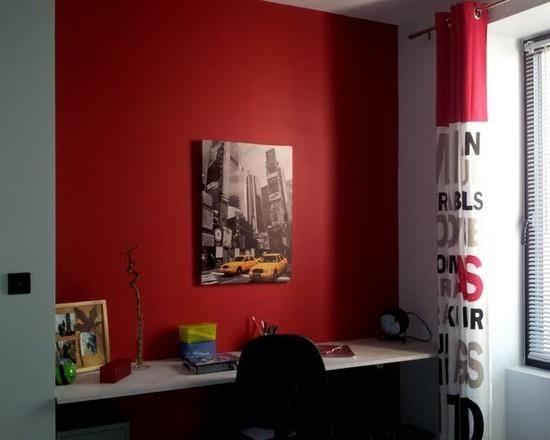 chambre dado rouge et noir - Chambre Rouge Et Noir