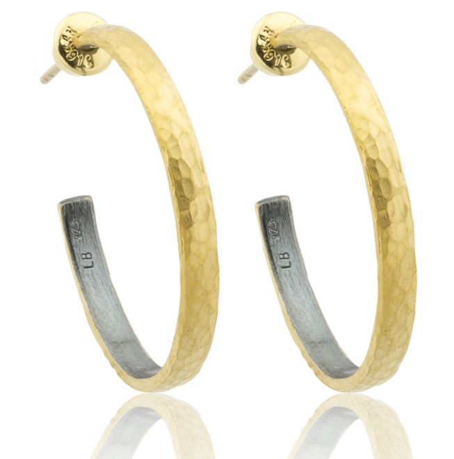 Must have 24kt and blackened silver hoop earrings by Gurhan.  At Union Street Goldsmith, San Francisco