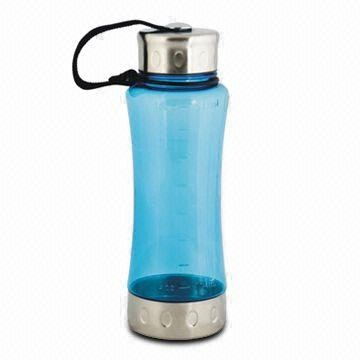 350mL Plastic Water Bottle, Customized Logos and Designs are Accepted
