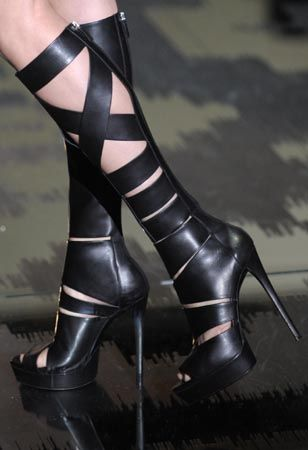 Since joining Gucci, Frida Giannini has done wonders for the venerable brand's accessories. Though apparel was particularly strong for Spring 2010, Giannini sent especially lust-worthy footwear...
