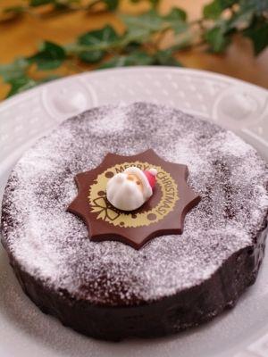 ガトー・オ・ショコラのクリスマスケーキ by はるぴよりん|簡単作り方/料理検索の楽天レシピ