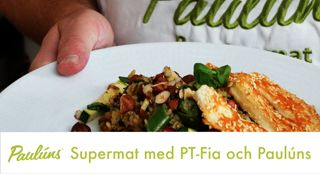 2016 - året då vi alla ville äta mer vegetariskt! Halloumi känner många igen från grillsäsongen men visste du att den innehåller tillräckligt med protein för att klassa ut köttet och kliva ut tillbehörsfacket? Tillsammans med andra vegetariska proteiner som linser, ris, quinoa... Så kan du utesluta kött men få exakt samma näringsvärde! PT-Fia visar hur du gör den och Fredrik Paulún berättar om det fantastiska innehållet.HalloumisalladCa 5-6 pers2 pkt halloumi1 pkt supermixValfria…