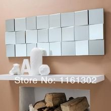MR-2D0092 Long Multi Facet Zig Zag Headboard Wall Mirror(China (Mainland))