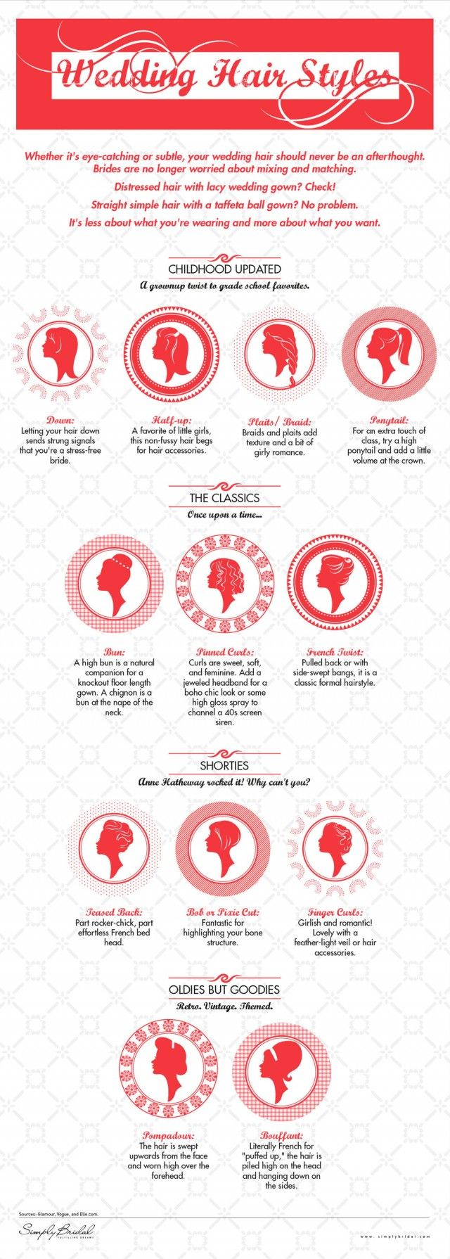 Wedding Hair Styles — Infographic