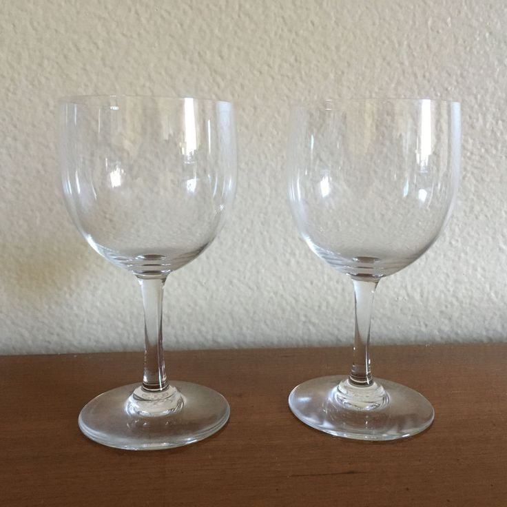 """Two (2) Baccarat Crystal Port Wine Glasses Montaigne Pattern 5 1/2"""" EUC  #Baccarat #PlainwithRoundStemandThinBowl"""