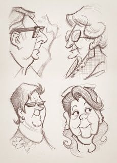 Drawing old people is far too much fun. These are great! I especially love the bespectacled man in profile.