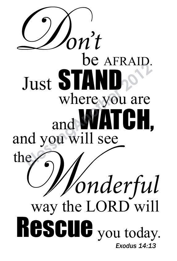 Scripture Art Print Word Art Trust Love Hope Encouragement Exodus 14:13 God Christian Home Decor 5 x 7. $8.00, via Etsy.