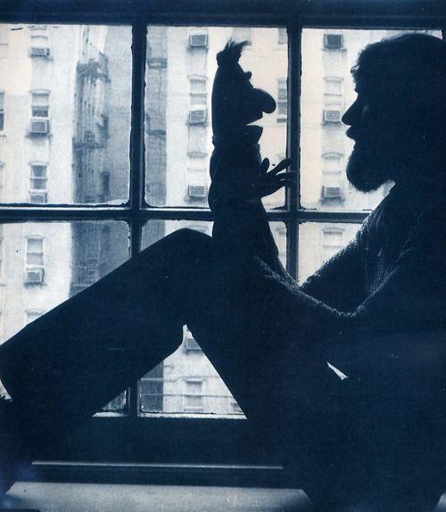 Jim Henson in conversation with Bert. Bless.
