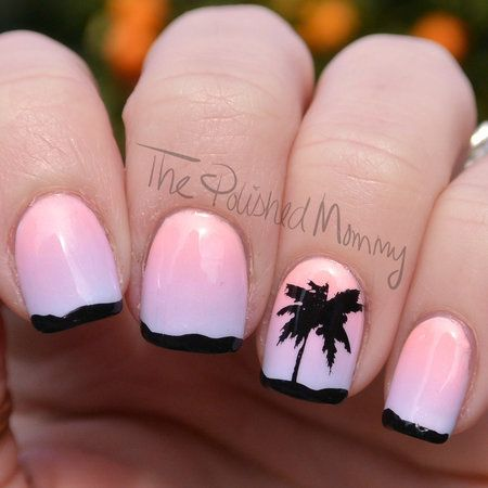 IMATS LA 2015 #palmtree #ombre #polishedmommy #nailart - bellashoot.com & bellashoot iPhone & iPad