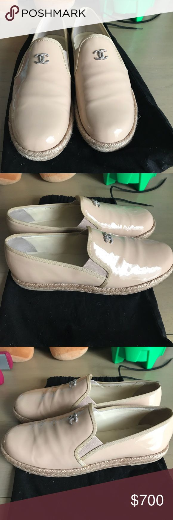100% authentic Chanel moccasins sz 36.5 In very good condition 100% Chanel moccasins in size 36.5 for reference I'm sometimes size 6 or 36.5 all depends on the shoes those feet me just fine I only have it on for 3 times they very fashion and comfortable looks amazing on my price are very firm please don't send low offers will ignore them thank you for look 😊 chanel Shoes Moccasins